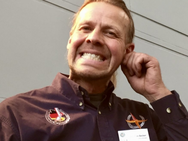 Stephan Becker von Nordhuf freut sich über den Ansturm der Kinder.